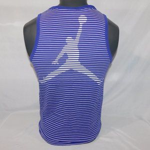 Nike Jordan jumpman Mens M Purple striped Tank top